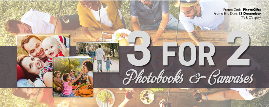 December 3 for 2 on Photobooks and Canvases